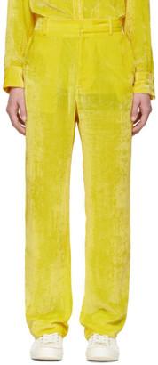 Sies Marjan SSENSE Exclusive Yellow Velvet Cord Toby Trousers