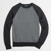 J.Crew Factory Merino wool baseball crewneck sweater