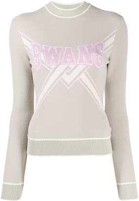 Off-White Swans knitted sweater