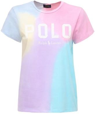 Polo Ralph Lauren Logo Tie Dye Cotton Jersey T-shirt