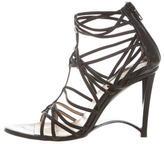 Donna Karan Leather Multi-Strap Sandals