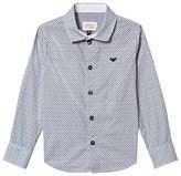 Armani Junior White All Over Logo Print Shirt