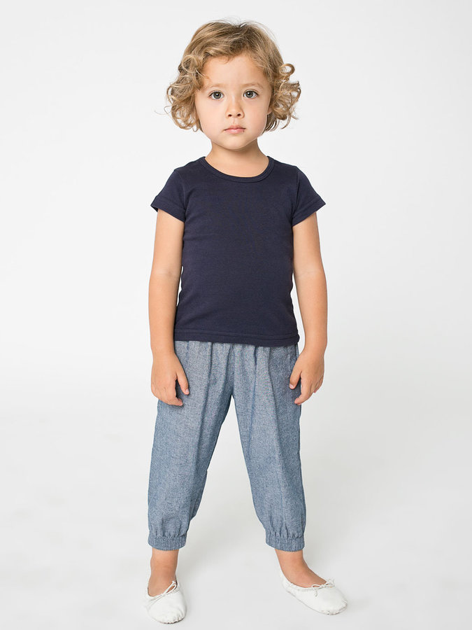 American Apparel Kids Chambray Jumper Pant