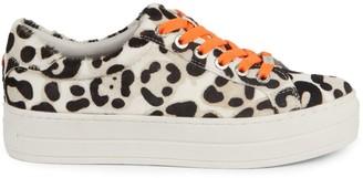 J/Slides Hippie Neon Leopard Leather Sneakers