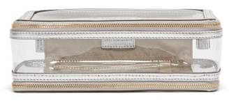 Anya Hindmarch In-flight Leather And Pvc Travel Bag - Womens - Silver