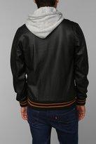 Obey Faux-Leather Varsity Jacket