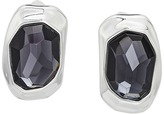 Robert Lee Morris Black Diamond and Silver Clip Earrings Earring