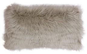 "Thro Keller Faux Mongolian Reverse To Micromink Pillow, 22"" x 14"""