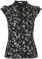 GUILD PRIME floral printed buttoned blouse