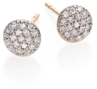 Phillips House Affair Diamond & 14K Yellow Gold Infinity Stud Earrings