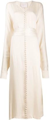 ENVELOPE1976 V-neck button down dress