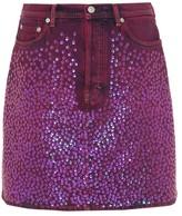 Acne Studios Sharmayne sequinned denim skirt