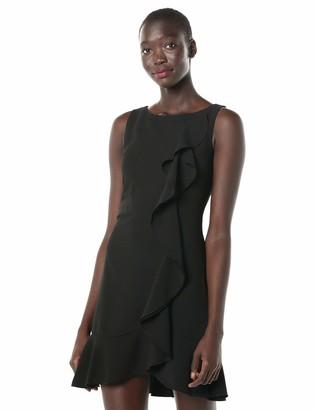 Kensie Dress Women's Sleeveless Shift Dress with Ruffle Detail