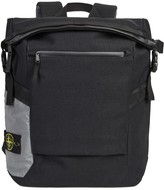 Stone Island Black Canvas Backpack