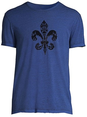 John Varvatos Skull Fleur-de-Lis T-Shirt