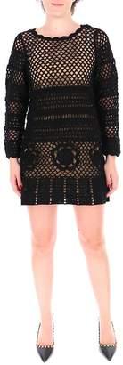 Self-Portrait Self Portrait Crochet Mini Dress