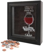 Young's Wood Life's Too Short Wine Cork Holder, 9.5-Inch x 11.75-Inch x 4-Inch