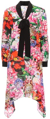 Mary Katrantzou Hearts floral-printed silk dress
