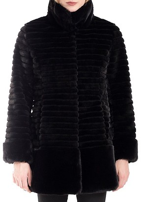 Belle Fare Quilted Faux Fur Coat