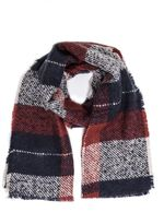 Quiz Red And Blue Check Scarf