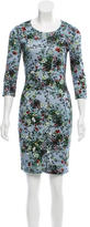 Erdem Floral Print Knee-Length Dress
