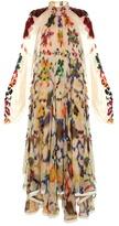 Chloé Ink-blot print high-neck gown