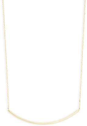 Saks Fifth Avenue 14K Yellow Gold Curved Bar Pendant Necklace