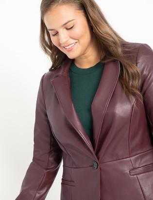 ELOQUII Faux Leather Blazer