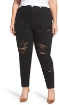 Glamorous Plus Size Women's Destroyed Skinny Jeans