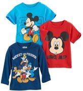 Disney Disney's Mickey Mouse Toddler Boy 3-pc. Mickey & Friends Tee Set