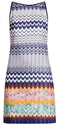 Missoni Abito Senza Maniche Chevron Stripe Sleeveless Shift Dress