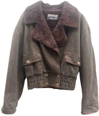 Krizia Brown Cotton Jacket for Women Vintage
