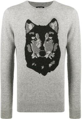 Ron Dorff Wolf Print Jumper