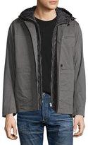 G Star G-Star Bronson Hooded Blazer W/Removable Liner, Gray