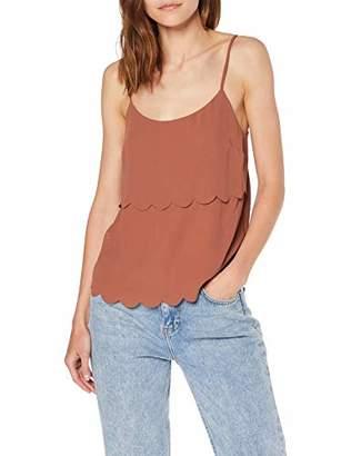 Miss Selfridge Women's Rust Scallop Layer Camisole Top Vest,6 (Manufacturer Size:6)