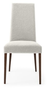 Calligaris Mediterranee Upholstered Dining Chair Upholstery Color: Hemp, Leg Color: Smoke