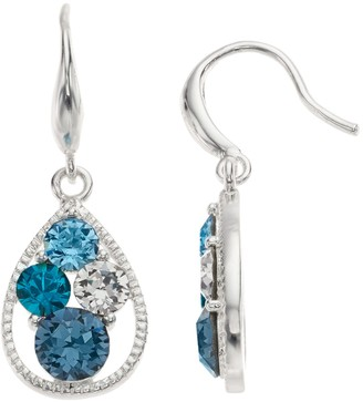 Brilliance+ Brilliance Cluster Earrings with Swarovski Crystals