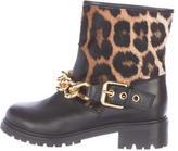 Giuseppe Zanotti Ponyhair Chain-Link Boots