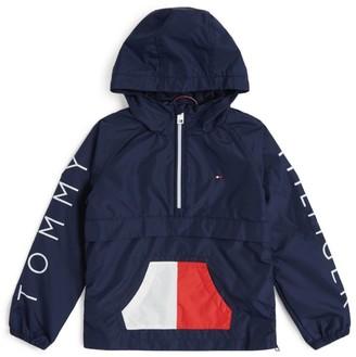 Tommy Hilfiger Junior Pocket Flag Half-Zip Windbreaker Jacket (4-16 years)