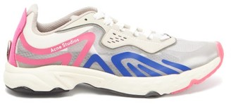 Acne Studios Panelled Suede And Mesh Trainers - Womens - Pink Multi