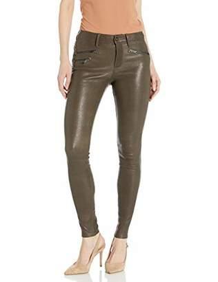 AG Adriano Goldschmied Women's Leather Farrah Skinny Moto