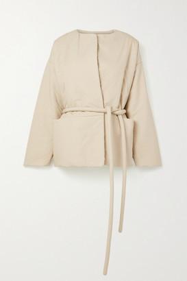 LAUREN MANOOGIAN Belted Cotton Jacket - Cream