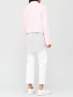 Tommy Jeans Solid Hybrid Long Sleeve Jumper - Pink