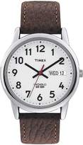 Timex Men's Easy Reader® Watch with Leather Strap - Silver/Brown T20041JT