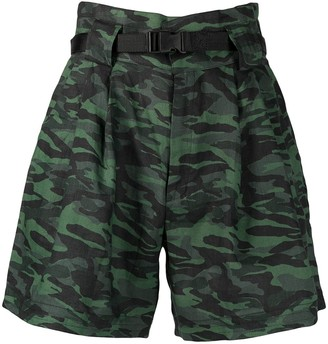 Solid & Striped The Talia high-rise camouflage shorts