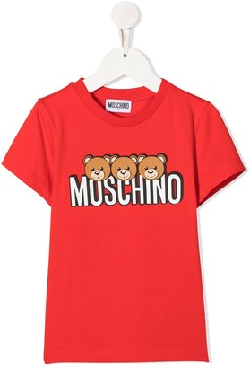 MOSCHINO BAMBINO logo-print T-shirt