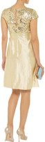 Mikael Aghal Sequin-embellished slub-silk dress