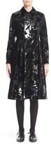 Noir Kei Ninomiya Women's Flocked Faux Leather Coat