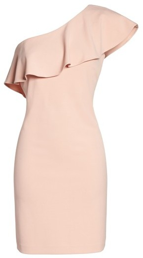 Julia Jordan Women's Ruffle One-Shoulder Shift Dress