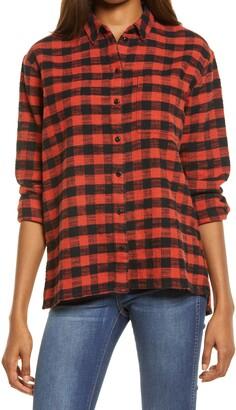 Madewell Buffalo Check Oversize Flannel Ex-Boyfriend Women's Shirt